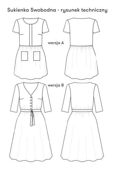 Sukienka Swobodna – wersja elektroniczna