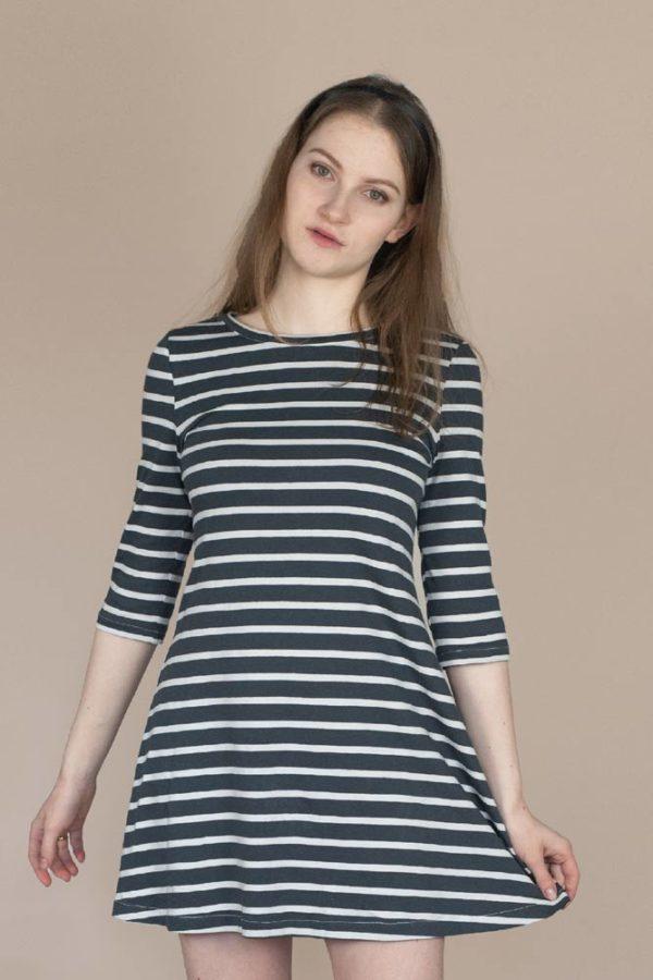 wykroje krawieckie na proste ubrania - dzianina uniwersalna, sukienka i bluzka